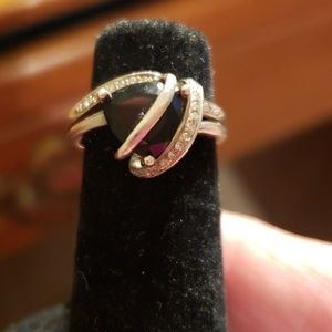 Sterling silver/blk onyx ring size 5